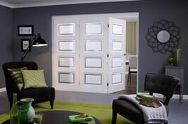 Contemporary White 4L RoomFold Doors Image