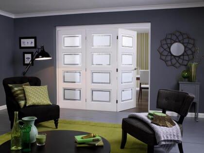 NuVu Roomfold Contemporary White 4 Lite Range