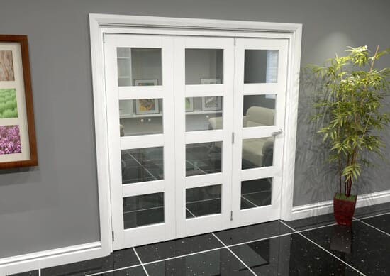 White Primed Internal Bifold Doors Image