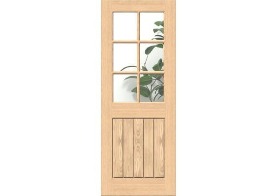 Mexicano Oak 6L Glazed Internal Doors