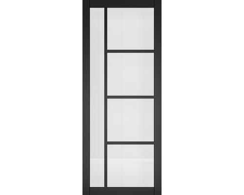 Brixton Black Prefinished - Clear Glass Internal Doors
