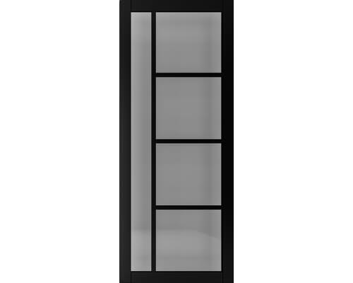 Brixton Black Prefinished - Smoked Glass Internal Doors