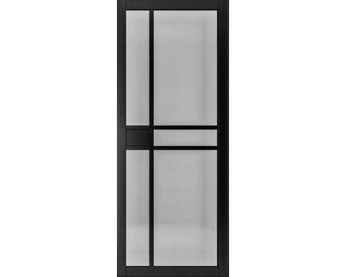 Dalston Black Prefinished - Smoked Glass Internal Doors