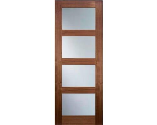 Coventry Walnut Glazed - Clear Prefinished Internal Doors