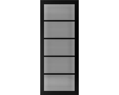 Shoreditch Black Prefinished - Smoked Glass Internal Doors