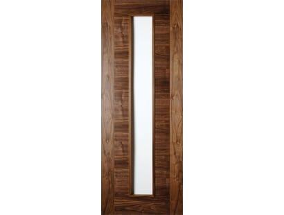 Seville Walnut 1l Clear Glazed Door - Prefinished Image