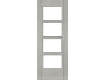 Montreal Light Grey Ash Glazed - Pre-finished Fire Door Image