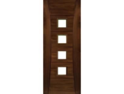 Pamplona Walnut Glazed Door - Prefinished Image