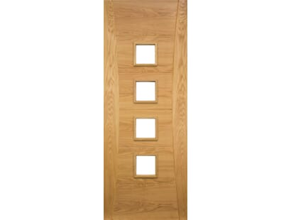 Pamplona Glazed Oak Door - Prefinished Image
