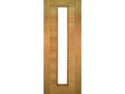 Seville Oak Doors 1l Clear Glass - Prefinished Image