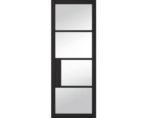 Chelsea Clear Glazed Black Internal Doors