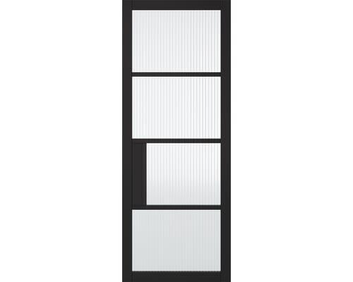 Chelsea Reeded Glazed Black Internal Doors