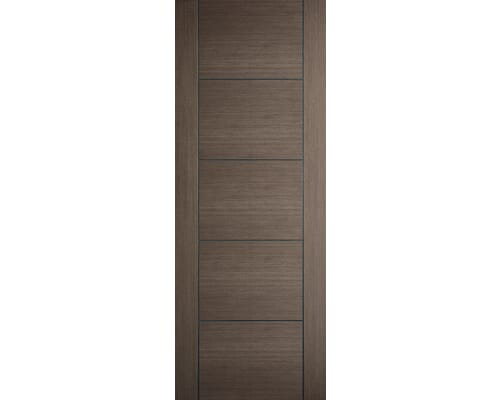 Vancouver Choco Grey Pre-finished Fire Door