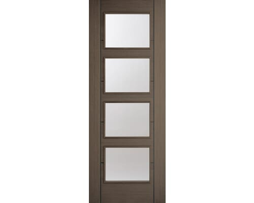 Vancouver Choco Grey 4 Light - Clear Prefinished Internal Doors