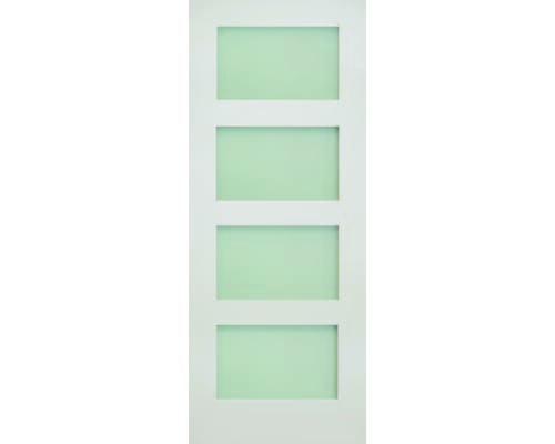Coventry White 4 Light Frosted Glass Internal Doors
