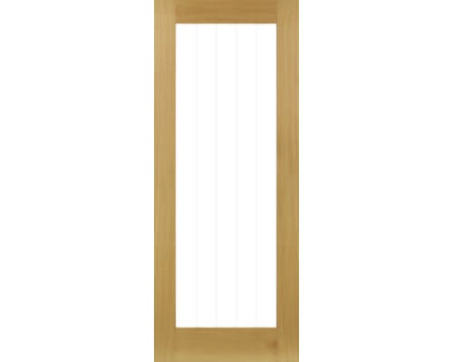 Ely Oak (1l Full) - Clear Glazed Internal Doors