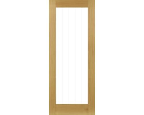 Ely Oak (1l Full) Prefinished - Clear Glazed Internal Doors