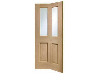 Pattern 10 Oak Bifold Glazed Door Image