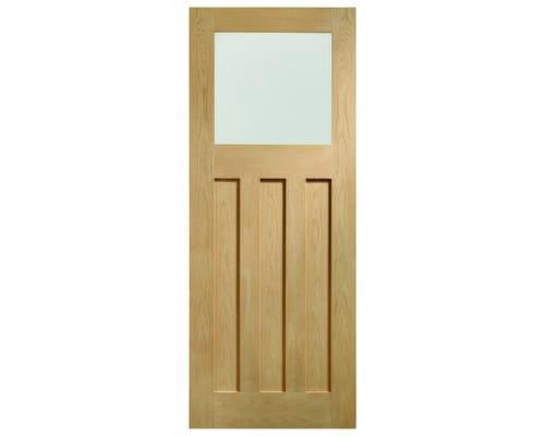 Dx Oak - Obscure Glass Internal Doors