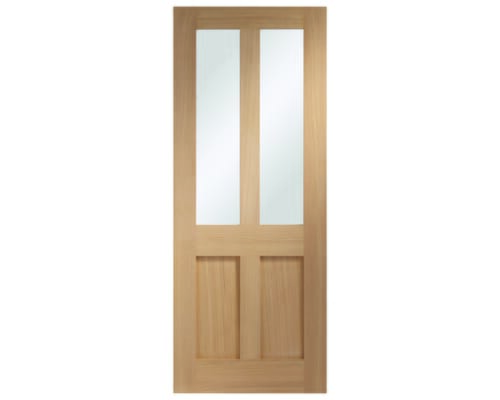 Malton Oak Shaker - Clear Glass Internal Doors