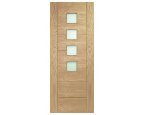 Palermo Oak - Obscure Glass Internal Doors