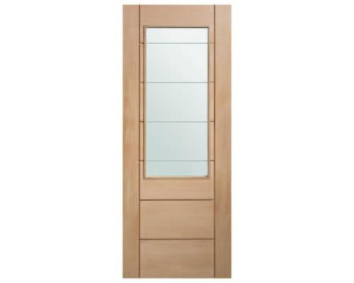 Palermo Oak 2xg - Clear Etched Glass Internal Doors