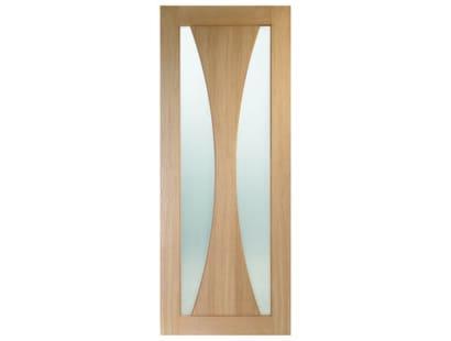 Verona Oak Glazed Door - Obscure Image