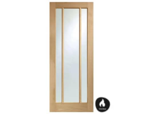 Worcester Oak 3 Light - Clear Glass Internal Doors