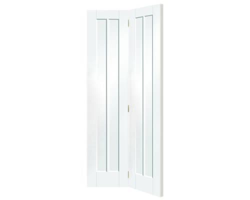 Worcester White Bi-fold - Clear Glass Internal Doors
