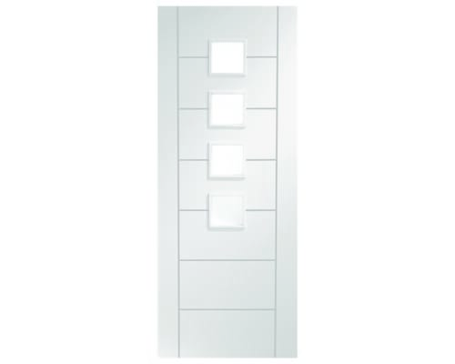 Palermo White - Obscure Glass Internal Doors