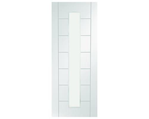 Palermo White 1 Light - Clear Glass Internal Doors