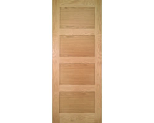 Coventry Shaker 4 Panel Oak - Pre-finished Fire Door