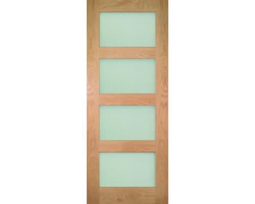 Coventry Glazed Oak Shaker - Frosted Glass Internal Doors