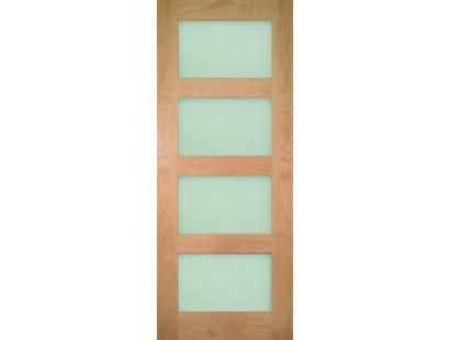 Coventry Prefinished Shaker Glazed Oak Door - Clear Image