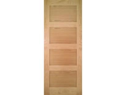 Coventry Prefinished Shaker 4 Panel Oak Door Image