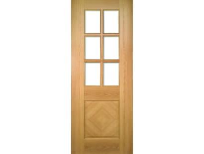 Kensington Glazed Oak Door - Prefinished Image