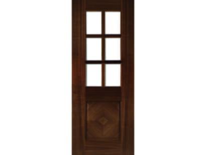Kensington Walnut Glazed Door - Prefinished Image