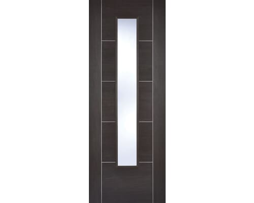 Vancouver Dark Grey Glazed Laminate Internal Doors
