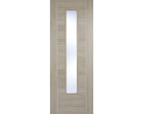 Vancouver Light Grey Glazed Laminate Internal Doors