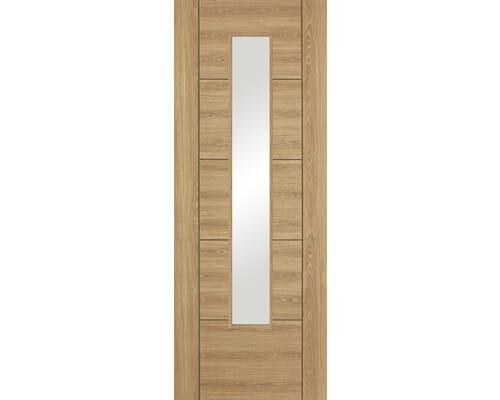 Vancouver Oak Glazed Laminate Internal Doors