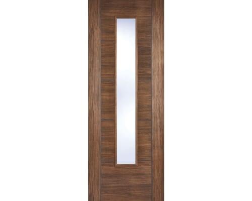 Walnut Vancouver Glazed Laminate Internal Doors