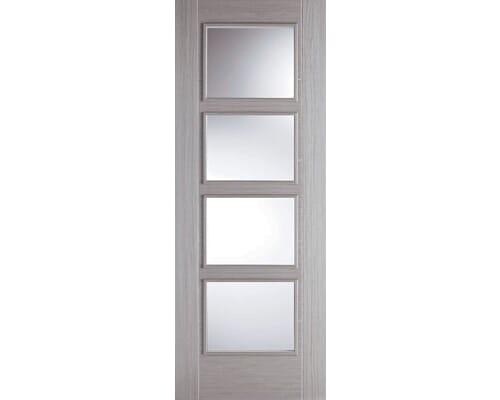 Vancouver Light Grey 4 Light - Clear Glass Prefinished Internal Doors
