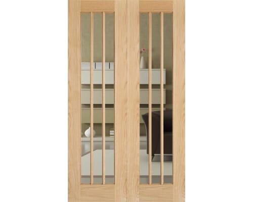 Lincoln Glazed Oak Rebated Pair Internal Doors
