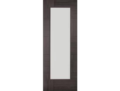Ravenna Umber Grey Laminate - Clear Glass Internal Doors Image