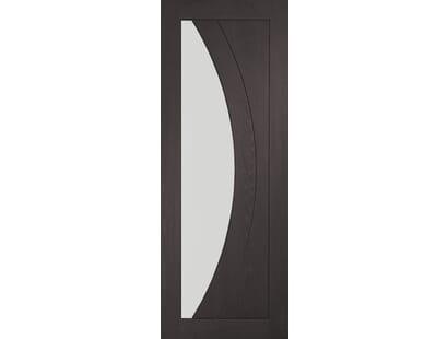 Salerno Umber Grey Laminate - Clear Glass Internal Doors Image