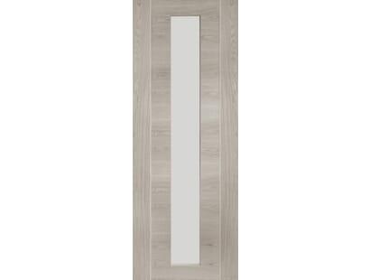 Forli White Grey Laminate - Clear Internal Doors Image