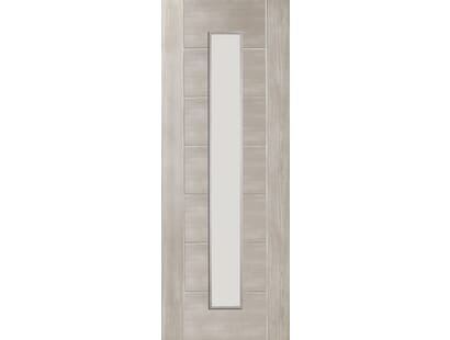 Palermo White Grey Laminate - Clear Glass Internal Doors Image
