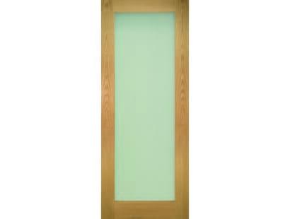 Walden Oak Glazed Door - Frosted Image