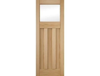 Deco 3 Panel Clear Glazed Oak Internal Doors Image
