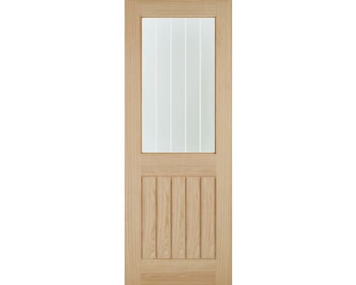 Belize Oak 1l - Silkscreen Glass Internal Doors